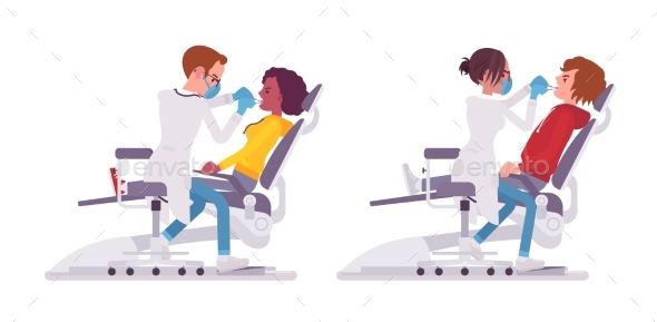Male and Female Dentist Doctor - Health/Medicine Conceptual