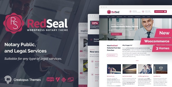 RedSeal - Notary Public and Legal Services WordPress Theme - Business Corporate