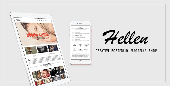 Hellen - Elegant & Minimalist WordPress Theme - Creative WordPress