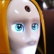 Female Robot Head Similar To Human, Eyes Look Into a Camera - VideoHive Item for Sale