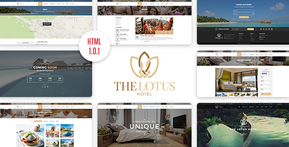 Lotus - Hotel Booking HTML Template - Travel Retail