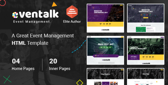 EventTalk - Event & Conference HTML Template