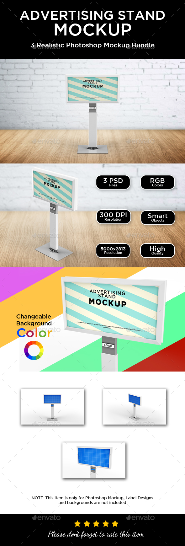 Banner and Advertising Stand Mockup - Displays Product Mock-Ups