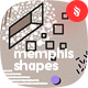 Seamless Patterns of Abstract Shapes in Memphis Style Backgrounds - GraphicRiver Item for Sale