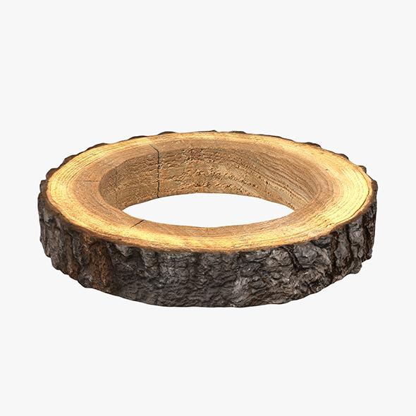Wood Log Ring - 3DOcean Item for Sale