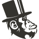 Gentleman Monkey Logo