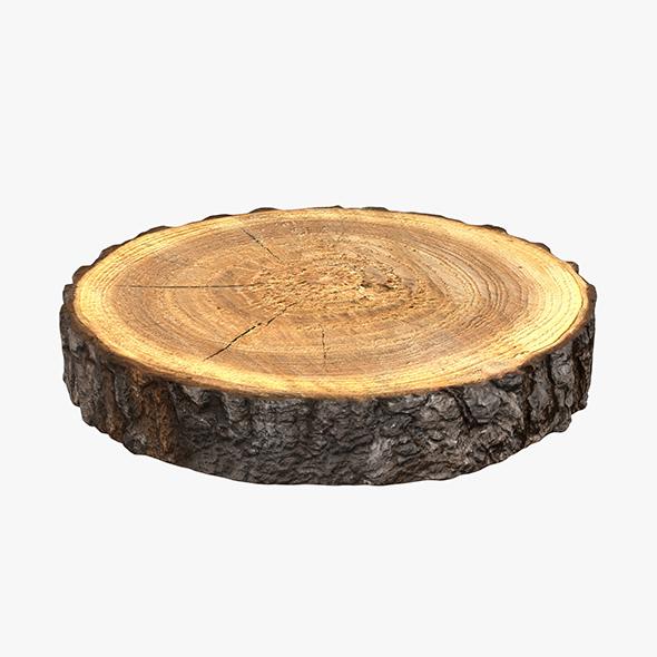 Wood Log Slice - 3DOcean Item for Sale