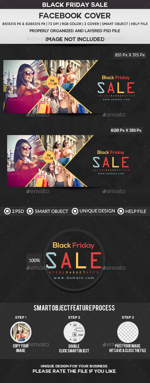 Black Friday Sale Facebook Cover - Facebook Timeline Covers Social Media