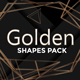 Golden Shapes Pack - GraphicRiver Item for Sale
