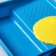Yellow Paint Is Poured Into a Blue Container - VideoHive Item for Sale