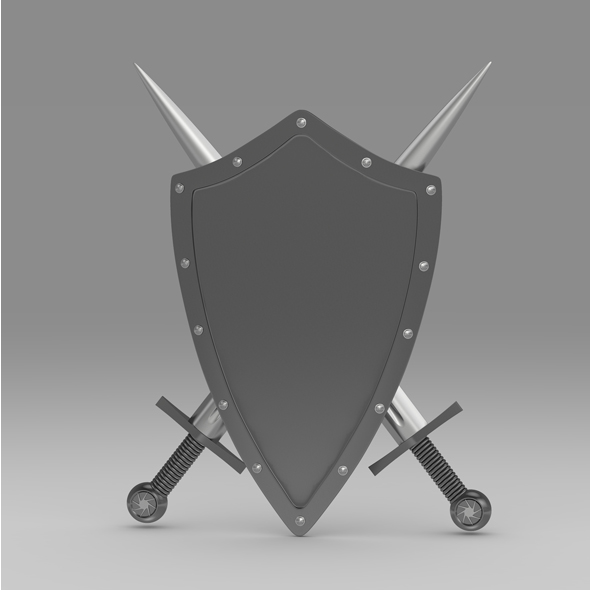 Shield and sword 3 - 3DOcean Item for Sale