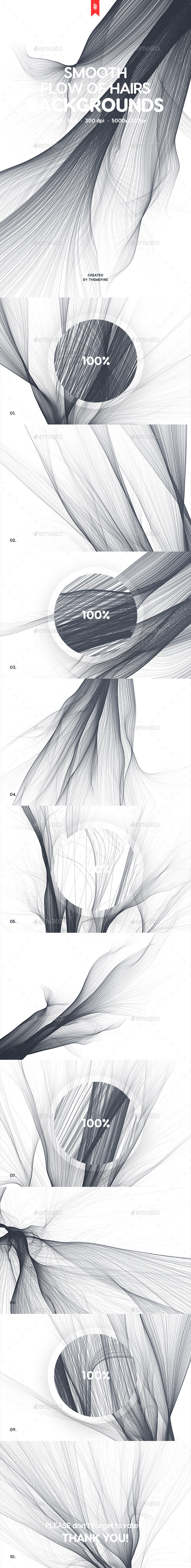 Abstract Smooth Flow of Hairs Backgrounds - Backgrounds Graphics