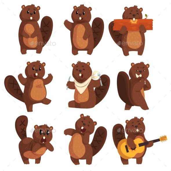 Character Beaver  - Animals Characters
