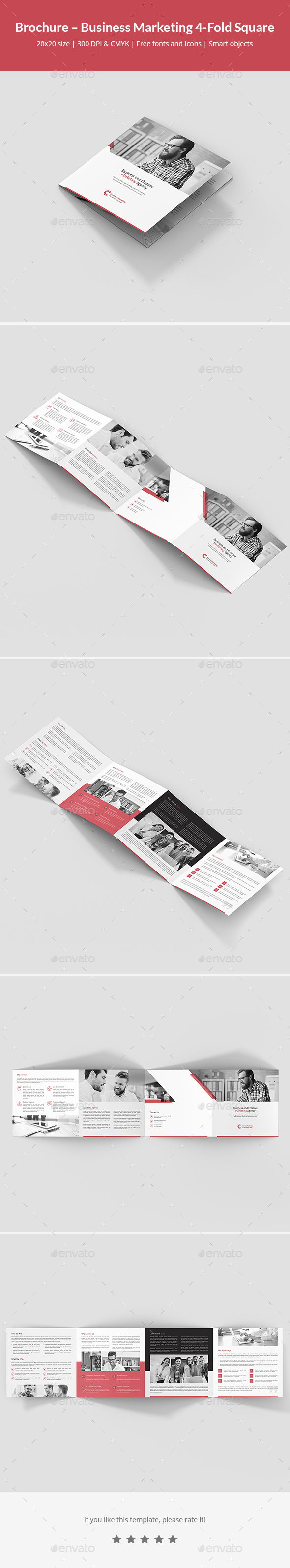 Brochure – Business Marketing 4-Fold Square - Corporate Brochures