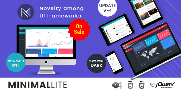 Image of Minimal Lite - Responsive Bootstrap 4 Admin, Dashboard & WebApp Templates