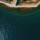 Flying Over Sveti Dorde Island at the Sea - VideoHive Item for Sale