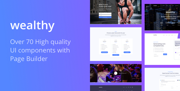 Image of Wealthy - UI Kit Landing Page with Page Builder