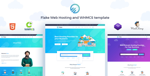 Image of Flake Web Hosting and WHMCS Technology Template