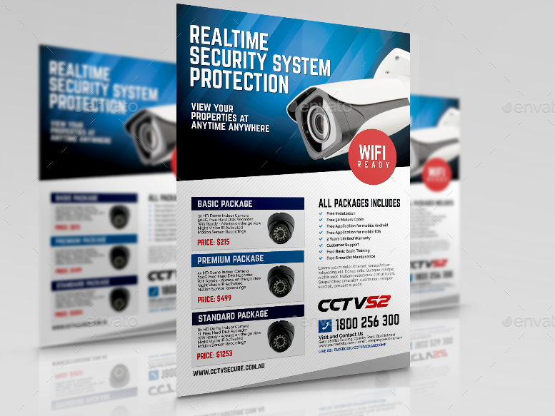 CCTV Surveillance Camera Flyer
