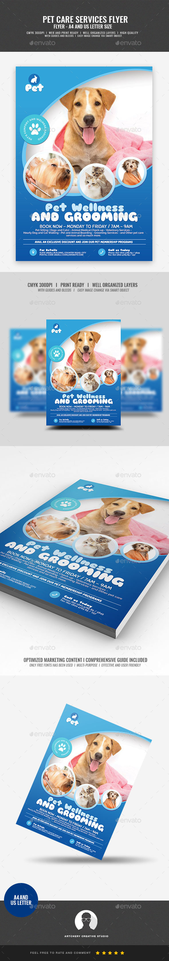 Pet Grooming Promotional Flyer - Corporate Flyers
