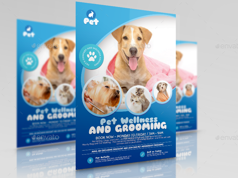 Pet Grooming Promotional Flyer By Artchery Graphicriver