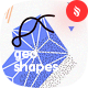 Seamless Patterns of Abstract Geo Shapes Backgrounds