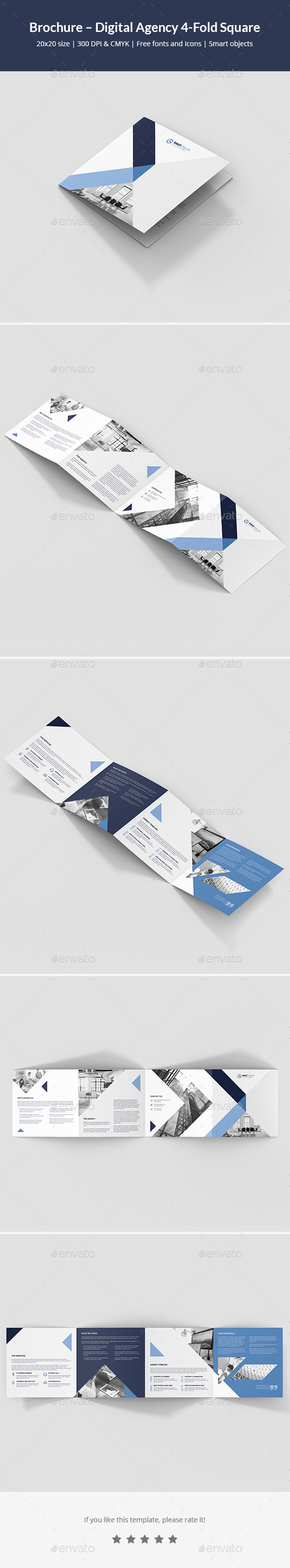 Brochure – Digital Agency 4-Fold Square - Corporate Brochures