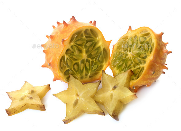 Cucumis metuliferus in studio - Stock Photo - Images