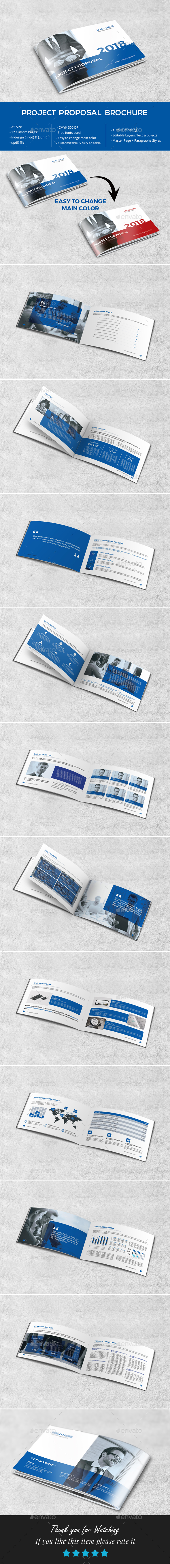 A5 Proposal Brochure - Brochures Print Templates