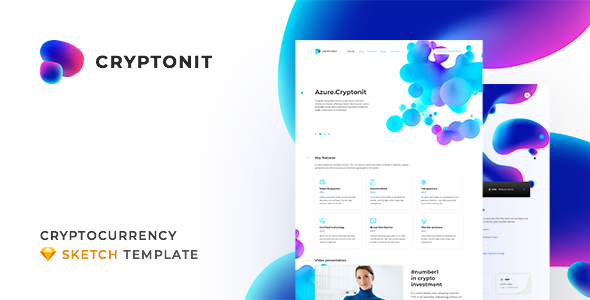 Cryptonit – Digital Currency, ICO, Cryptocurrency Blog and Magazine, Finance Sketch Template Free Download