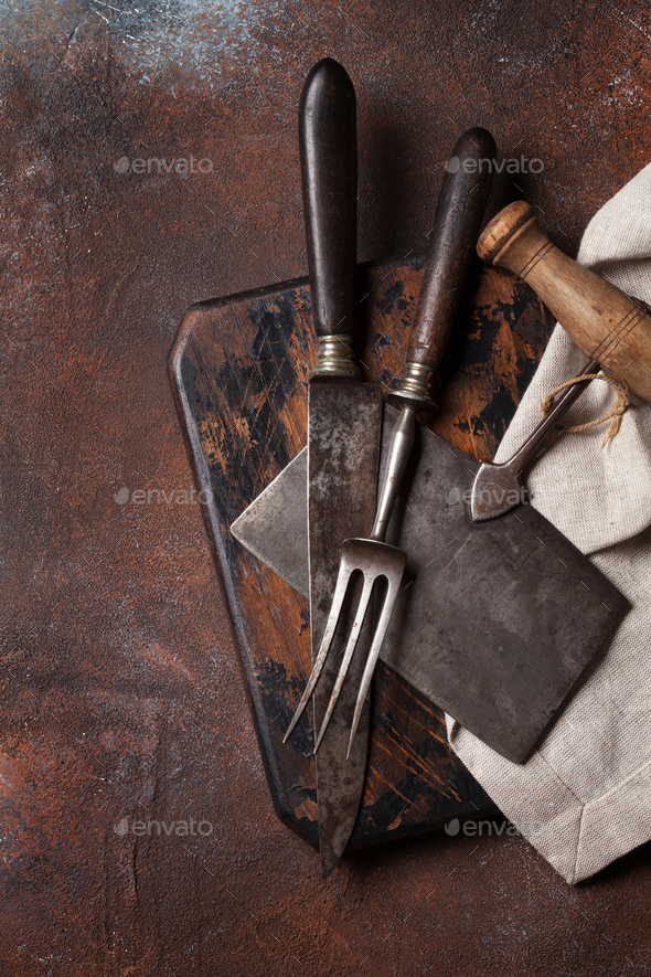 Vintage kitchen utensils - Stock Photo - Images