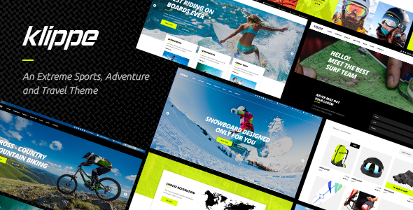 Image of Klippe - An Extreme Sports and Adventure Tours Theme