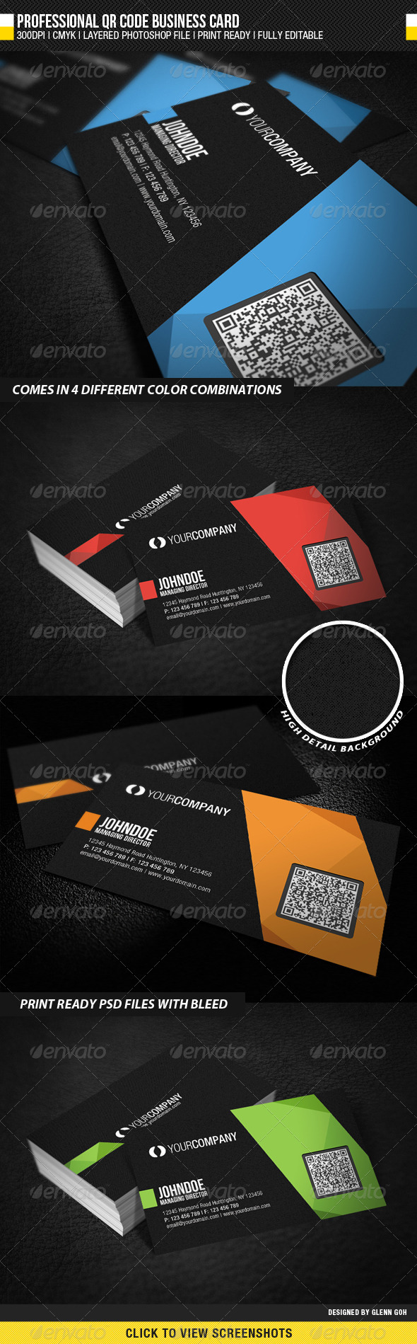 Qr code business card unlimitedgamers professional qr code business cardglenngoh graphicriver accmission Image collections