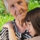 Grandmother with Granddaughter - VideoHive Item for Sale