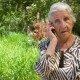 A Retired Woman with a Phone - VideoHive Item for Sale