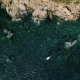 Amazing Epic Drone Shot of Bay Water with Boat - VideoHive Item for Sale