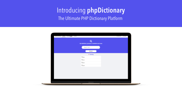 phpDictionary - The Ultimate PHP Dictionary Platform - CodeCanyon Item for Sale