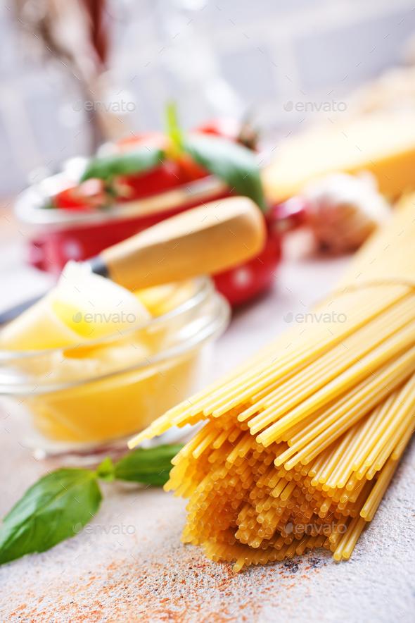 raw spaghetti - Stock Photo - Images