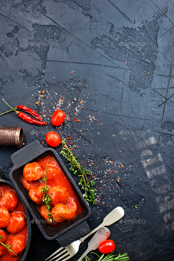 meatballs with tomato sauce - Stock Photo - Images