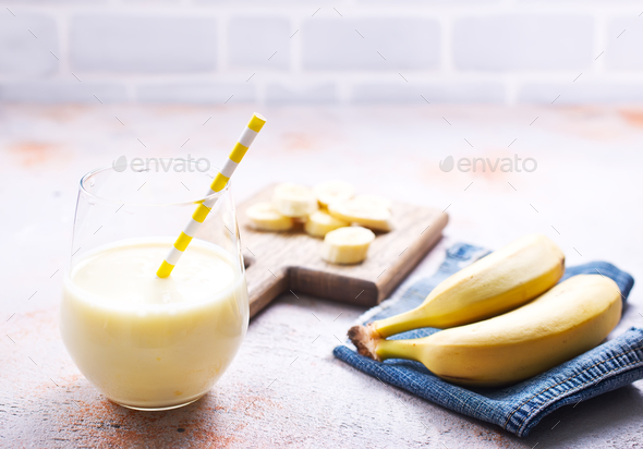 banana smoothie - Stock Photo - Images