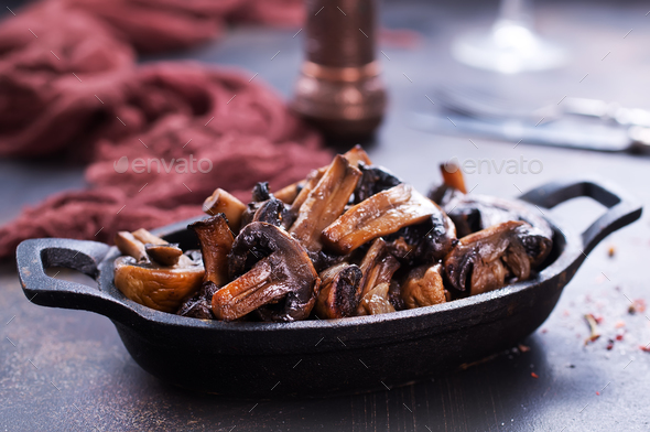 fried mushrooms - Stock Photo - Images