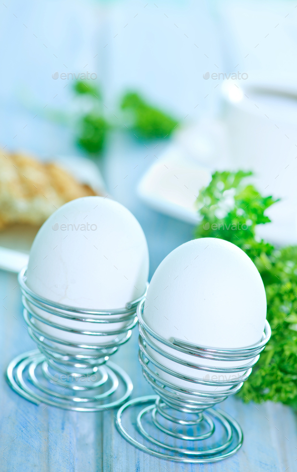 boiled eggs - Stock Photo - Images