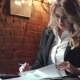 Business Woman Working with Documents in the Office  - VideoHive Item for Sale