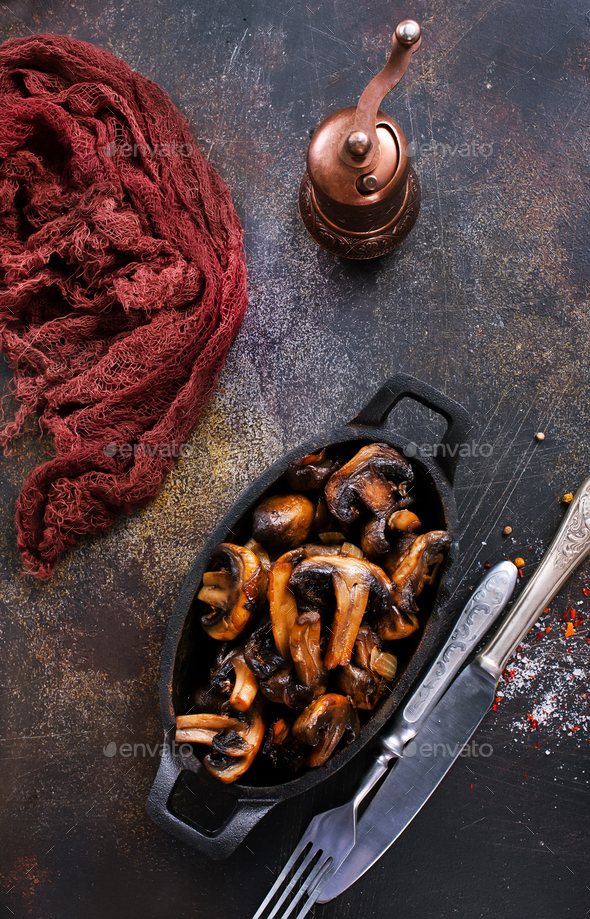 fried mushrooms - Stock Photo - Images