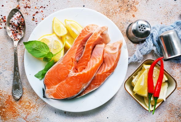 raw salmon - Stock Photo - Images