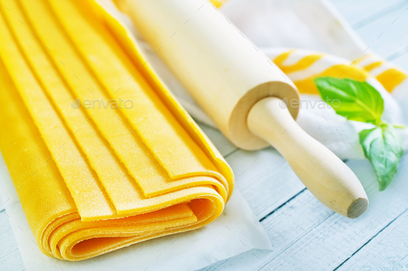 dough for lasagna - Stock Photo - Images