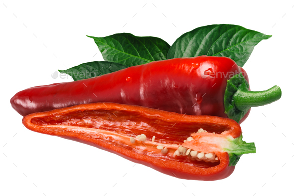 Dulce Italiano pepper, paths - Stock Photo - Images