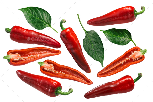 Dulce Italiano peppers, paths - Stock Photo - Images
