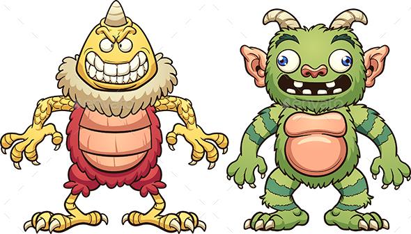 Cartoon Monsters - Monsters Characters