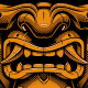 Samurai mask vector illustration.